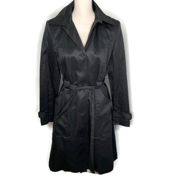 Ann Taylor Jackets & Blazers - Ann Taylor black trench coat with belt - 6